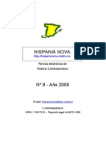 Hispania Nova, nº 08, 2008 - 1807-1814. Península ibérica y colonias americanas