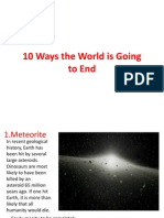 10 Ways the World is Going to End