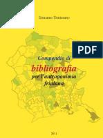 Compendio di bibliografia di antroponimia friulana
