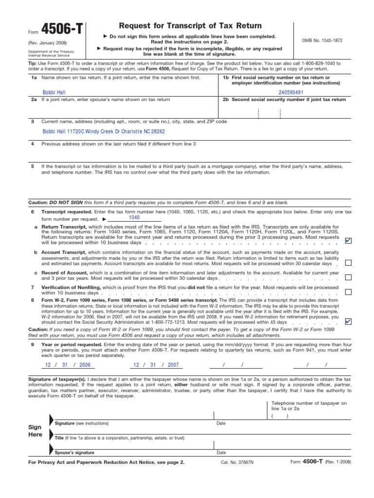 f4506t   Internal Revenue Service   Irs Tax Forms