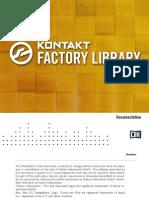 Kontakt Factory Library Documentation English