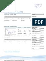 Broker Note, AIM Resources, 27/07/2006 (Seymour Pierce)