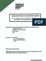 Design and Optimization of Irrigation Distribution Networks