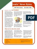 November 2008 WDC DG Hannah's News Bytes
