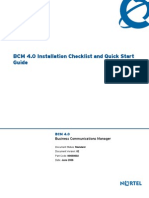 BCM 400 Quick Start Guide