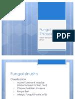 Gr Rounds Fungal Sinusitis