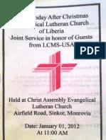 ELCL Bulletin 1 Jan 2012