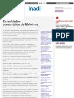 MARCO JURIDICO - Ex Soldados Conscriptos de Malvinas _ Inadi