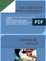 CIRUGIA DE  CUELLO