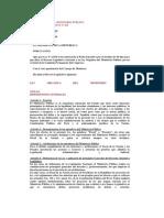LEY ORGÁNICA DEL MINISTERIO PÚBLICO