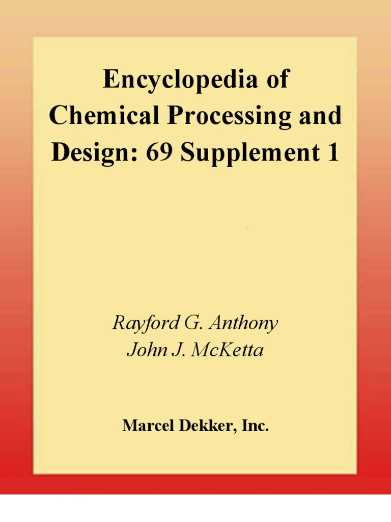 encyclopedia of chemical processing and design pdf download
