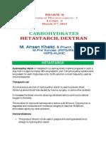 Lect 6 Hydroxyethyl Starch