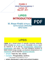 Lecture 33 - Lipids Introduction [Compatibility Mode]