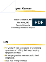 Esophegeal Cancer