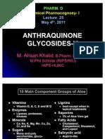Lecture 25 Anthraquinone Glycosides-V