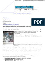 101 Greatest Headlines You Can Model For Your Sales Copy » E-MoneyMarketing