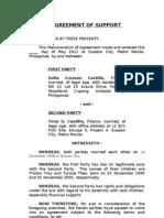 Agreement of Support Castillo 05-04-11