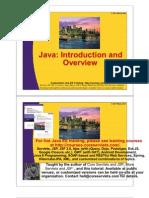 01 Java Intro+Overview