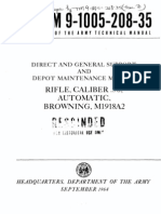Browning BAR - TM 9-1005-208-35 Direct and General Support and Depot Maintenance Manual - Rifle Caliber 30 Automatic Browning M1918A2 - 1964