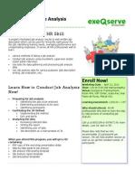 Job Analysis Workshop - No Frills Training from ExeQserve