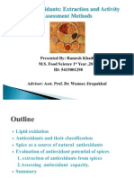 Spice Antioxidants Extraction and Activity Assessment Methods
