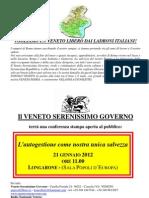 Invito Conferenza a Longarone 21 gennaio 2012