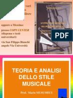 Teoria Dello Stile Analisi Delle Forme Com Positive i 1 Melodia