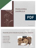 Producerea zahărului