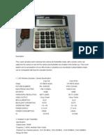 Wireless color hidden Calculator spy Camera