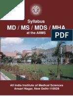 Syllabus - Md Ms Mds Mha