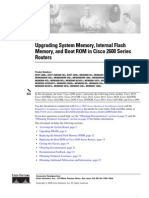 Upgrading System Memory, Internal Flash, And Boot ROM in Cisco 2600 Series Routers - 2600mem