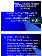 III Magna Carta for PWDs