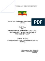 Manual on Cobblestone Road Construction, Procurement and Dis