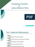 Pro Activity & Attitude to Work