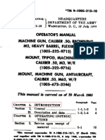 Browning Machine Gun Cal .50 - TM-9-1005-213-10 Operator's Manual Machine Gun, Caliber .50, Browning M2 HB - 1968