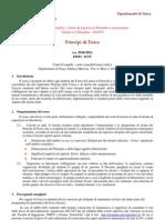 Principi Di Fisica - Programma 2010-2011
