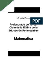 Profesorado en Matemática