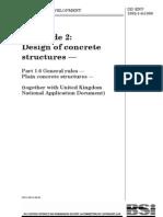 Eurocode 2 - Plain Concrete Structures
