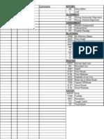 WR Grade Sheet