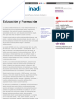INADI POLITICAS - Educación y Formación _ Inadi