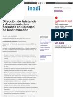 INADI ASISTENCIA - Dirección de Asistencia y Asesoramiento a personas en Situación de Discriminacion