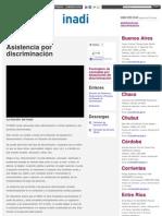 INADI ASISTENCIA - Asistencia por discriminación _ Inadi