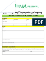 Photo Competition Entry Form 2012