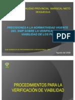 Capacitacion Sobre Verificacion de ad OPI- NORMAS Complement Arias DEL SNIP