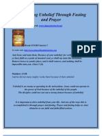 Overcoming Unbelief Through Fasting and Prayer