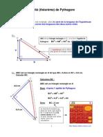 égalité de Pythagore (théorème de) (4ème)