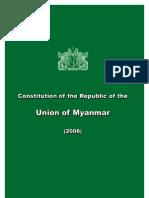 Myanmar Constitution 2008 English version