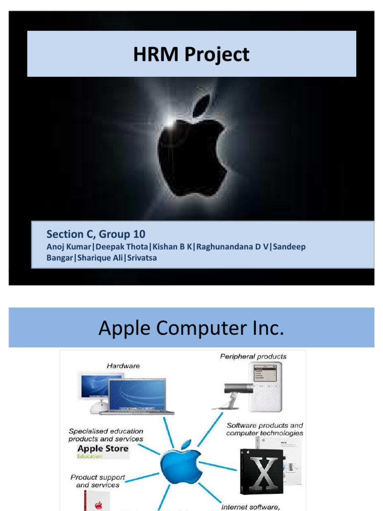 apple computer inc hrm project ppt
