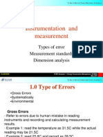 ion Error, Standards and Dimention Analysis
