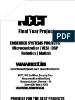 NCCT-Microcontroller Project Titles, 2011